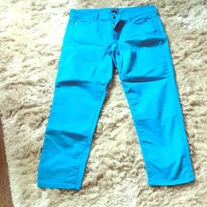 NWOT NYDJ turquoise ankle jeans